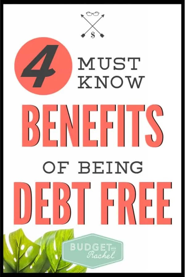 Not worried about your debt? You should be! These benefits will be life changing and show exactly why you should be paying off your debt as quickly as possible. Start your debt free journey today! #debtfree #debtpayoff #financialfreedom