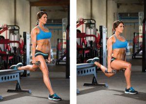 5 простых упражнений для мышц - приседания с выпадом