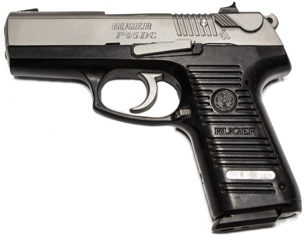 Used Ruger P95dc 9mm Stainless 10 1