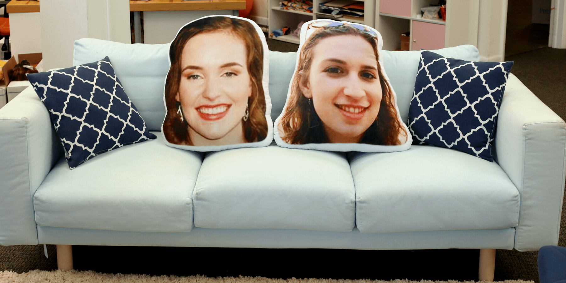 custom photo pillows of people