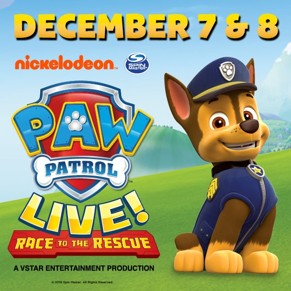 Paw Patrol Live Budweiser Gardens