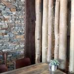 Rustic Wood Interior Restaurant Design Ledge Stone Stacked Stone Veneer Buechel Stone