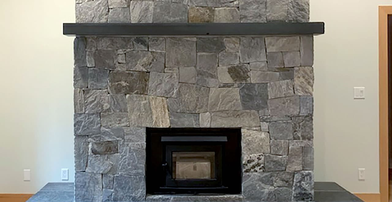 castle stone fireplace modern rustic