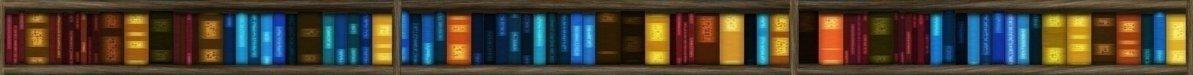Farbige Bücher im Bücherregal