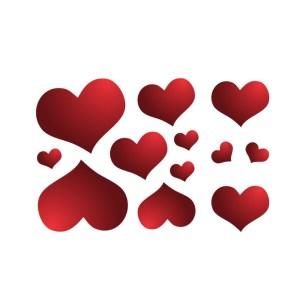 Bügelbilder SET Herzen