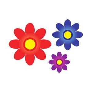 Bügelbilder Set Blumen 1