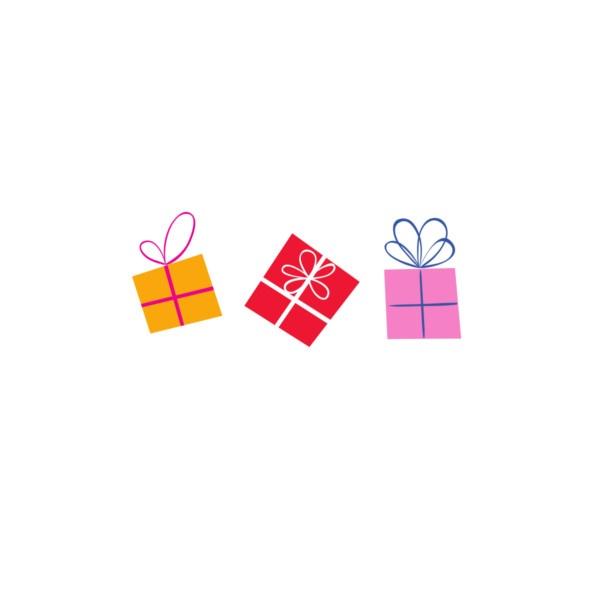 Bügelbild Geschenke