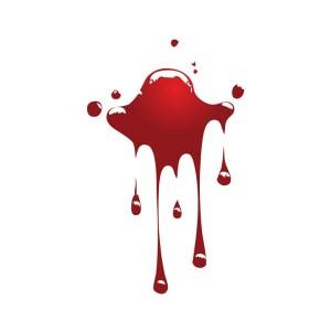 Bügelbild Blutfleck