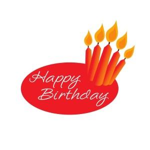 Bügelbild Happy Birthday