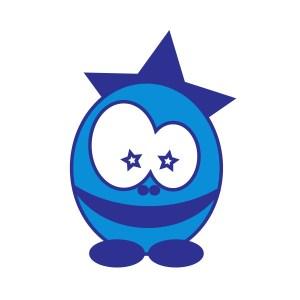 Bügelbild Eistar blue