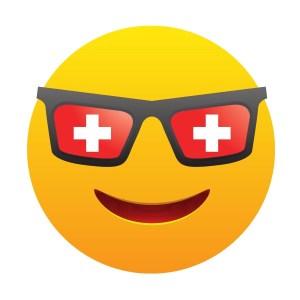 Bügelbild Emoji - SWISS SMILE