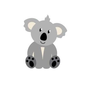 Bügelbild Koala