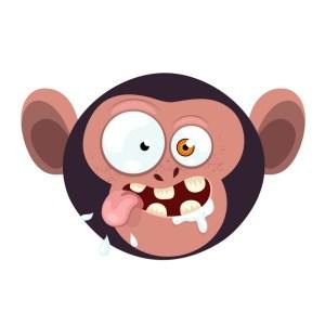 Bügelbild Monkey 1