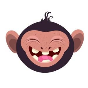Bügelbild Monkey 3