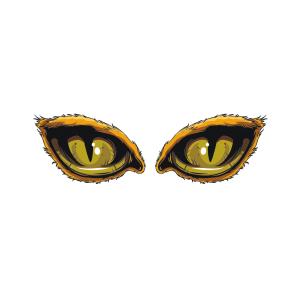 Bügelbild Augen 009