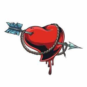 Bügelbild Arrow Heart