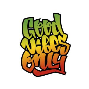 Bügelbild Good Vibes Only