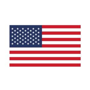 Bügelbild USA Flagge