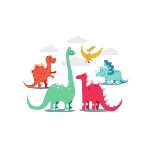 Bügelbild Dinos