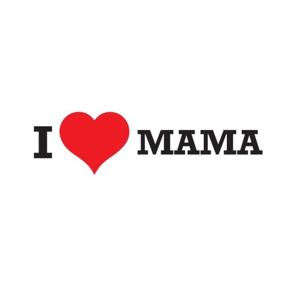 Bügelbild I Love Mama
