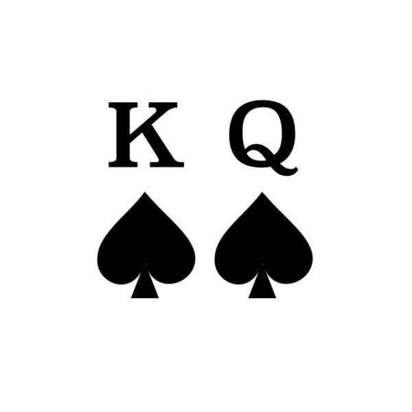 Bügelbild King Queen PIK