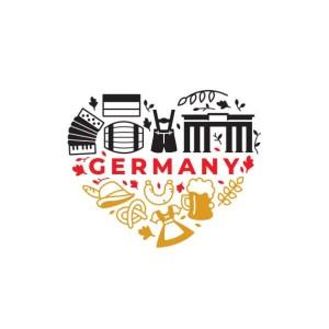 Bügelbild Germany Love
