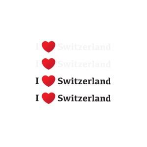 Bügelbilder Set I Love Switzerland