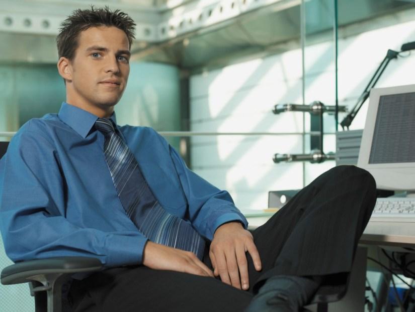 Hemd mit Krawatte - Blau auf Blau