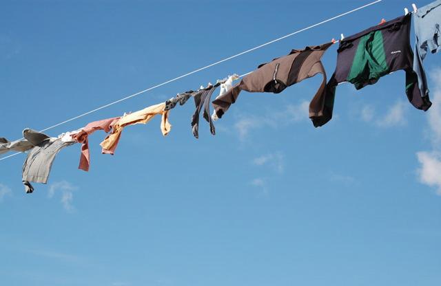 Kleidung auffrischen