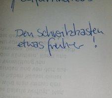Regieanweisung Schwitzkasten