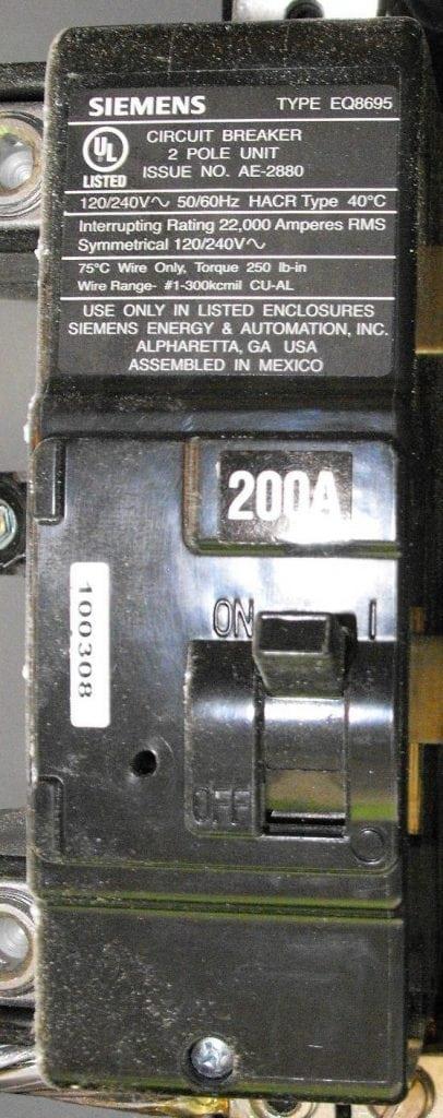 Split Bus Electrical Panels No Main Breaker
