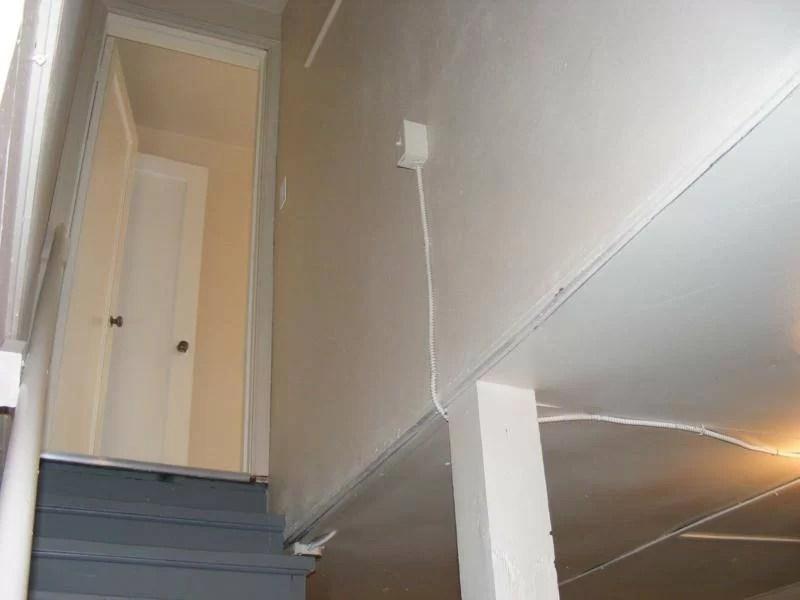 basement stairwell lighting charles