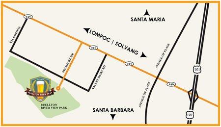 Buellton Brew Fest Map