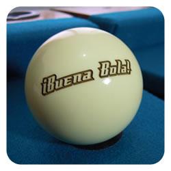 Bola de billar personalizada