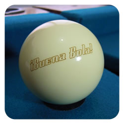 Customized billiard cue ball