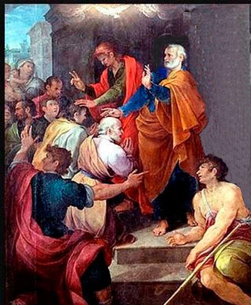 Resultado de imagen de Pedro santiago y juan dan las manos a bernabe y a Pablo