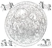 Mapa de la Luna Riccioli y Grimaldi