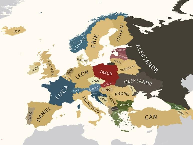 mapa nomes europa homens