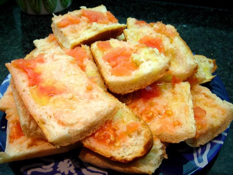 comidas tipicas barcelona pan tomate
