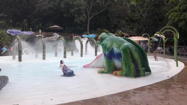 piscina infantil hotel pousada do rio quente