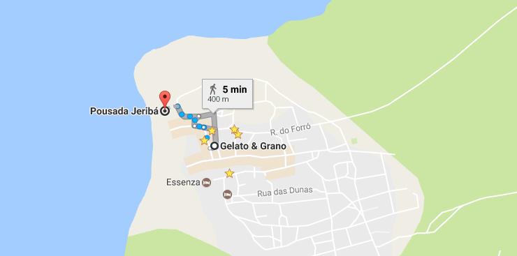 localização pousada jeriba jericoacoara