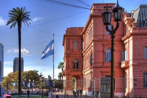 Casa Rosada, no centro de Buenos Aires