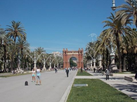 Arco do Triunfo, na extremidade do bairro