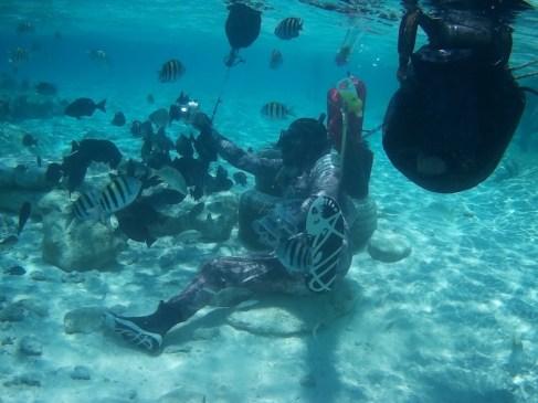 Fotógrafo mergulhador na Isla Acuario