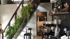 Máquina de café do Café com Flores