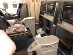 Executiva espaçosa da United Airlines
