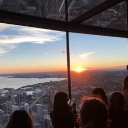 CN Tower no pôr-do-sol