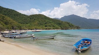Praia do Parque Tayrona, perto de Santa Marta
