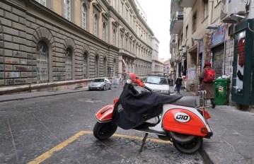 Lambreta em Nápoles