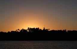 Pôr-do-sol no Rio Caraíva